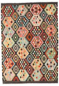 Kilim Afghan Old Style Alfombra 172X241 Oriental Tejida A Mano Marrón Oscuro/Beige Oscuro (Lana, Afganistán)