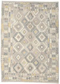 Kelim Afghan Old Style Teppe 208X290 Ekte Orientalsk Håndvevd Lys Grå/Beige (Ull, Afghanistan)