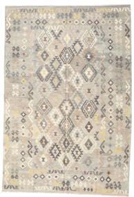 Kelim Afghan Old Style Teppe 197X290 Ekte Orientalsk Håndvevd Lys Grå/Beige (Ull, Afghanistan)