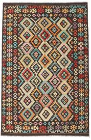 キリム アフガン オールド スタイル 絨毯 195X295 オリエンタル 手織り 濃い茶色/暗めのベージュ色の (ウール, アフガニスタン)
