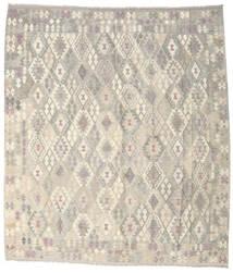 Kelim Afghan Old Style Teppich 264X302 Echter Orientalischer Handgewebter Hellgrau/Beige Großer (Wolle, Afghanistan)