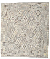 Kilim Afghan Old Style Rug 257X296 Authentic  Oriental Handwoven Light Grey Large (Wool, Afghanistan)