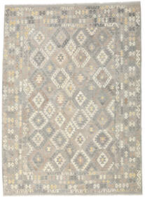 Kilim Afghan Old Style Rug 255X349 Authentic  Oriental Handwoven Light Grey/Beige Large (Wool, Afghanistan)
