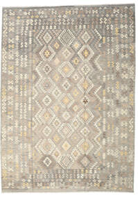 Kilim Afghan Old Style Rug 249X345 Authentic  Oriental Handwoven Light Grey/Beige (Wool, Afghanistan)