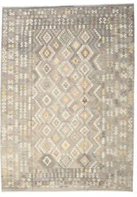 Kilim Afghan Old Style Alfombra 249X345 Oriental Tejida A Mano Gris Claro/Beige (Lana, Afganistán)