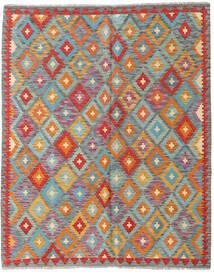Ćilim Afghan Old Style Sag 151X187 Autentični  Orijentalni Ručno Tkani Tamnosiva/Grimizno Crvena (Vuna, Afganistan)