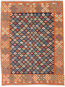 Kelim Afghan Old Style Teppich 149X196 Echter Orientalischer Handgewebter Orange/Dunkelgrau (Wolle, Afghanistan)
