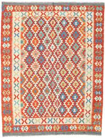 Kilim Afghan Old Style Rug 145X189 Authentic  Oriental Handwoven Orange/Beige (Wool, Afghanistan)