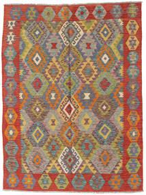 Kelim Afghan Old Style Tæppe 148X196 Ægte Orientalsk Håndvævet Rust/Mørkegrå (Uld, Afghanistan)