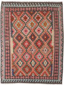 Ćilim Afghan Old Style Sag 153X196 Autentični  Orijentalni Ručno Tkani Tamnocrvena/Tamnosmeđa (Vuna, Afganistan)