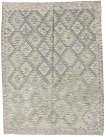 Kelim Afghan Old Style Teppich 154X199 Echter Orientalischer Handgewebter Hellgrau/Dunkelgrau (Wolle, Afghanistan)