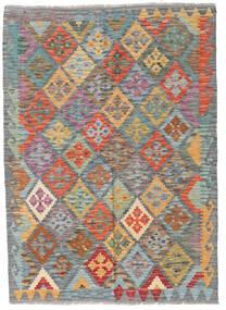 キリム アフガン オールド スタイル 絨毯 125X173 オリエンタル 手織り ライトグリーン/ターコイズ (ウール, アフガニスタン)