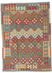 Kilim Afghan Old Style Alfombra 120X168 Oriental Tejida A Mano Gris Oscuro/Naranja (Lana, Afganistán)