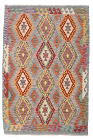 Kilim Afghan Old Style Alfombra 124X183 Oriental Tejida A Mano Gris Claro/Gris Oscuro (Lana, Afganistán)