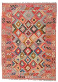 Ćilim Afghan Old Style Sag 125X174 Autentični  Orijentalni Ručno Tkani Tamnocrvena/Hrđavo Crvena (Vuna, Afganistan)
