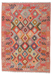 Kelim Afghan Old Style Teppe 125X174 Ekte Orientalsk Håndvevd Mørk Rød/Rust (Ull, Afghanistan)