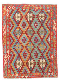 キリム アフガン オールド スタイル 絨毯 129X173 オリエンタル 手織り 錆色/深紅色の (ウール, アフガニスタン)