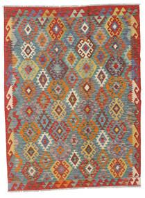 キリム アフガン オールド スタイル 絨毯 129X170 オリエンタル 手織り 青/薄茶色 (ウール, アフガニスタン)