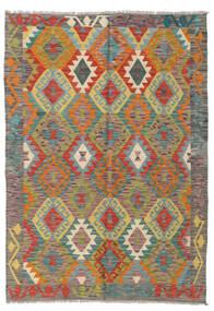 Kilim Afghan Old Style Alfombra 127X178 Oriental Tejida A Mano Gris Oscuro/Rosa (Lana, Afganistán)