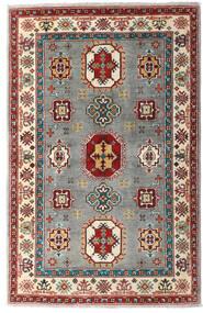 Kazak Teppe 99X150 Ekte Orientalsk Håndknyttet Mørk Rød/Lys Grå (Ull, Pakistan)