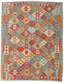Kelim Afghan Old Style Teppe 149X192 Ekte Orientalsk Håndvevd Rød/Rust (Ull, Afghanistan)