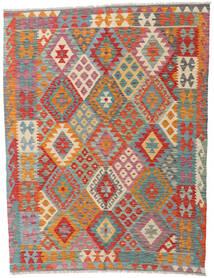 Kelim Afghan Old Style Teppich 160X194 Echter Orientalischer Handgewebter Rot/Rost/Rot (Wolle, Afghanistan)