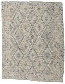 Chilim Afghan Old Style Covor 154X194 Orientale Lucrate De Mână Gri Deschis (Lână, Afganistan)