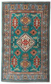 Kazak Dywan 95X161 Orientalny Tkany Ręcznie Ciemny Turkus/Ciemnoczerwony (Wełna, Pakistan)