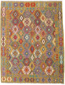 Ćilim Afghan Old Style Sag 158X201 Autentični  Orijentalni Ručno Tkani Svjetlosmeđa/Smeđa (Vuna, Afganistan)