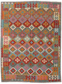 キリム アフガン オールド スタイル 絨毯 143X192 オリエンタル 手織り 濃いグレー/深緑色の (ウール, アフガニスタン)