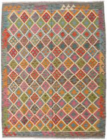 Chilim Afghan Old Style Covor 104X157 Orientale Lucrate De Mână Gri Închis/Roșu-Închis (Lână, Afganistan)