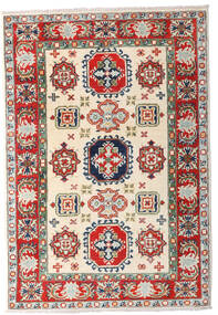 Kazak Rug 81X119 Authentic  Oriental Handknotted Beige/Light Grey (Wool, Pakistan)