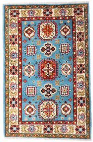 Kazak Tæppe 83X127 Ægte Orientalsk Håndknyttet Beige/Rød (Uld, Pakistan)