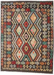 Kelim Afghan Old Style Teppe 150X200 Ekte Orientalsk Håndvevd Mørk Brun/Mørk Rød (Ull, Afghanistan)