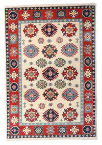 カザック 絨毯 84X125 オリエンタル 手織り ベージュ/ホワイト/クリーム色 (ウール, パキスタン)