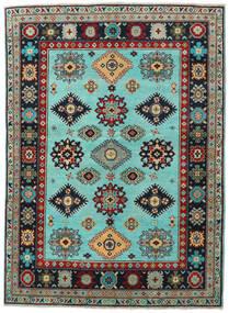 Kazak Rug 153X214 Authentic  Oriental Handknotted Black/Dark Brown (Wool, Pakistan)