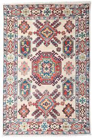 カザック 絨毯 82X126 オリエンタル 手織り ベージュ/濃いグレー (ウール, パキスタン)