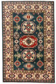 Kazak Teppe 120X184 Ekte Orientalsk Håndknyttet Mørk Blå/Mørk Rød (Ull, Pakistan)