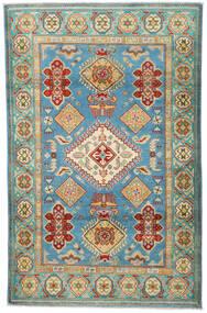 Kazak Teppe 119X188 Ekte Orientalsk Håndknyttet Mørk Beige/Lysgrønn (Ull, Pakistan)
