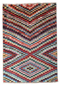 Moroccan Berber - Afghanistan Tapete 80X116 Moderno Feito A Mão Cinza Escuro/Vermelho Escuro (Lã, Afeganistão)