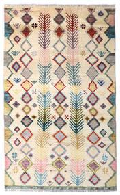 Moroccan Berber - Afghanistan Dywan 84X138 Nowoczesny Tkany Ręcznie Beżowy/Ciemnoszary (Wełna, Afganistan)