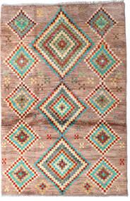 Moroccan Berber - Afghanistan Tapete 91X138 Moderno Feito A Mão Castanho Escuro/Vermelho Escuro (Lã, Afeganistão)