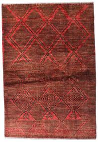 Moroccan Berber - Afghanistan Dywan 95X139 Nowoczesny Tkany Ręcznie Ciemnoczerwony/Ciemnobrązowy (Wełna, Afganistan)