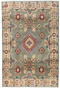 Kazak Rug 122X184 Authentic  Oriental Handknotted Dark Grey/Dark Beige (Wool, Pakistan)