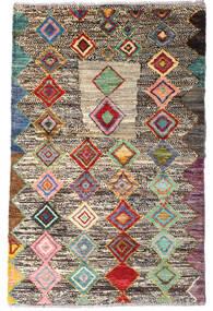 Moroccan Berber - Afghanistan Tapete 90X140 Moderno Feito A Mão Cinza Escuro/Cinzento Claro (Lã, Afeganistão)