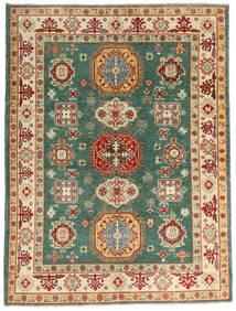 Kazak Teppe 148X198 Ekte Orientalsk Håndknyttet Mørk Beige/Mørk Rød (Ull, Pakistan)