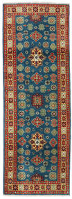 Kazak Rug 64X181 Authentic  Oriental Handknotted Hallway Runner  Dark Blue/Dark Red (Wool, Pakistan)
