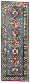 Kazak Rug 62X175 Authentic  Oriental Handknotted Hallway Runner  Blue/Black (Wool, Pakistan)