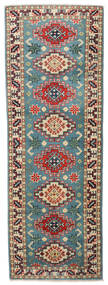 Kazak Rug 61X176 Authentic  Oriental Handknotted Hallway Runner  Black/Brown (Wool, Pakistan)