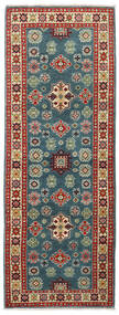 Kazak Teppe 64X175 Ekte Orientalsk Håndknyttet Teppeløpere Mørk Rød/Mørk Grå (Ull, Pakistan)